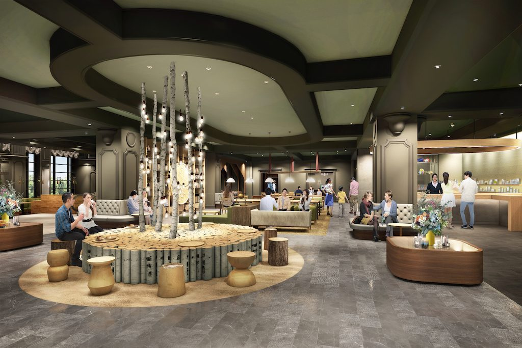A rendering of the lobby for the OMO7 Asahikawa in Hokkaido, which is expected to open in spring 2018.