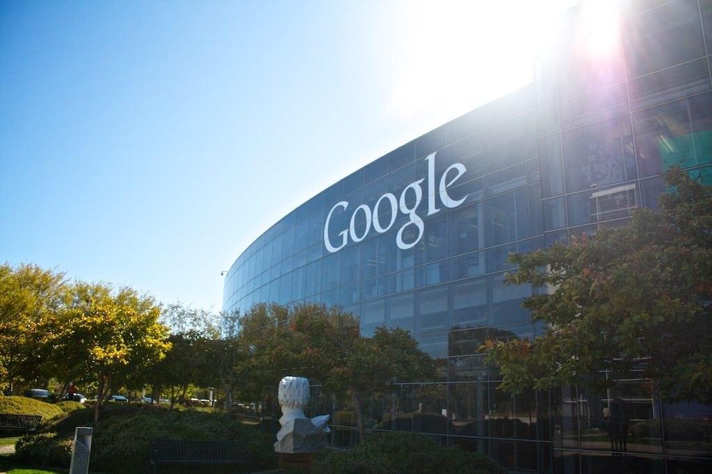 Google main campus in Mountain View, California.