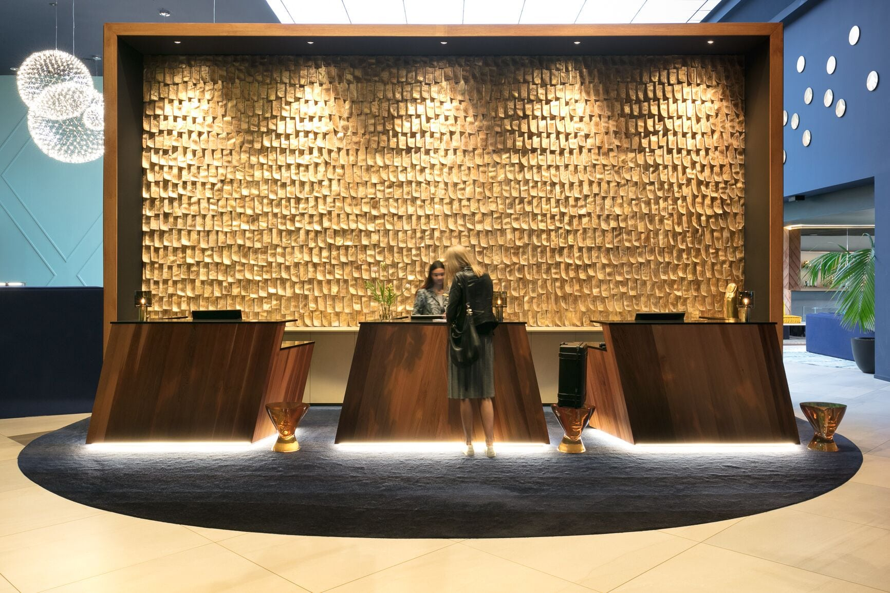Modern Lobby/ Front Desk Interior Design | {Architecture ... |Hotel Front Office Lobby