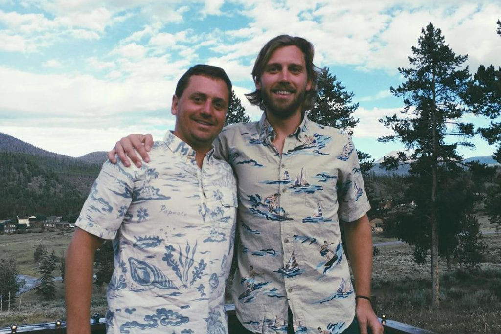 Pictured are the co-founders of tours and activities booking software startup FareHarbor. CEO of FareHarbor Lawrence Hester is on the right, while brother Zachary is on the left. They founded the company in Hawaii in 2013 but on Thursday sold it to Booking Holdings.