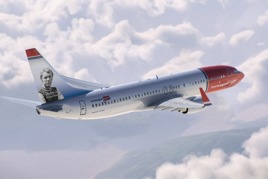 A Norwegian aircraft. IAG is looking into buying the carrier.