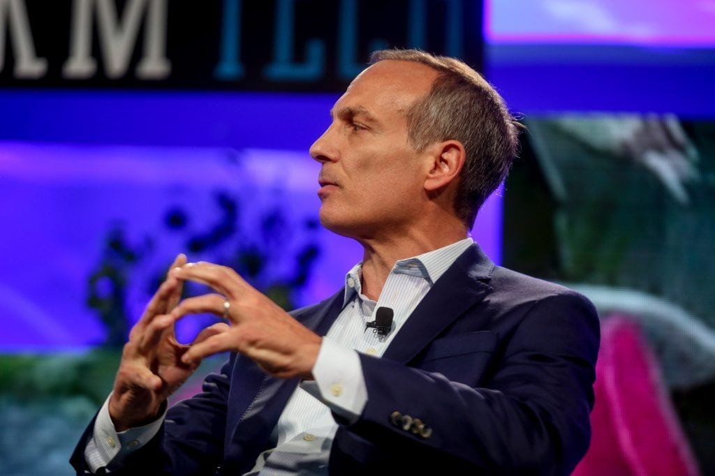 Booking Holdings CEO Glenn Fogel shrugged off the company's third quarter struggles, and felt satisfied with how 2017 turned out. He is pictured at Fortune Brainstorm Tech in Colorado in 2017.
