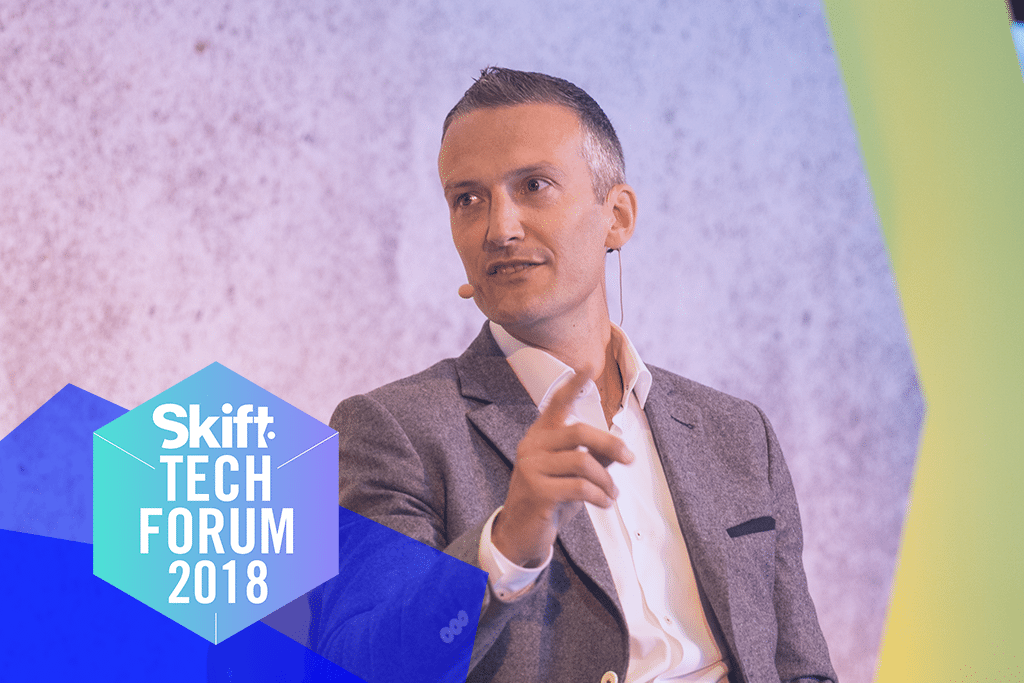 Steven Taylor, global chief brand officer at AccorHotels, spoke at Skift Tech Forum 2018 about transforming a hospitality giant.