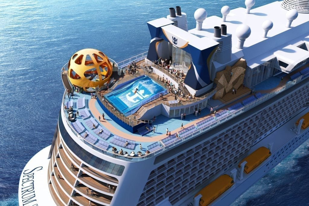 Royal Caribbean International is seeing its business in China improve. Pictured is a rendering of Spectrum of the Seas, an upcoming ship that will sail from Shanghai starting in June 2019.