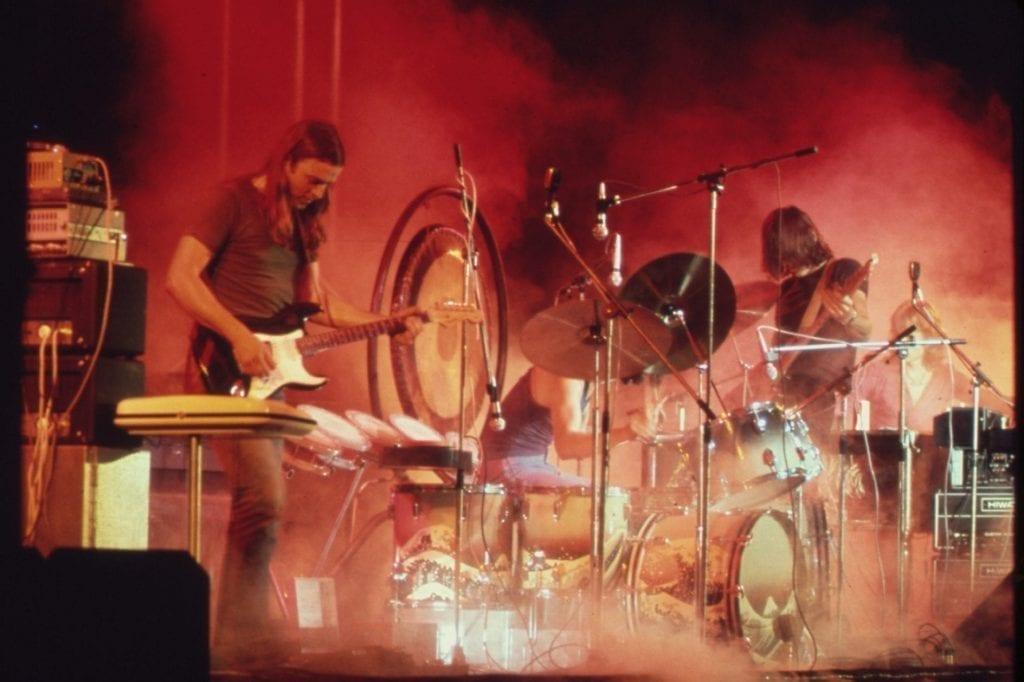 Pink Floyd on the band's 1973 U.S. tour. Tzell travel advisor Amy Keeling booked travels for the band and its crew.