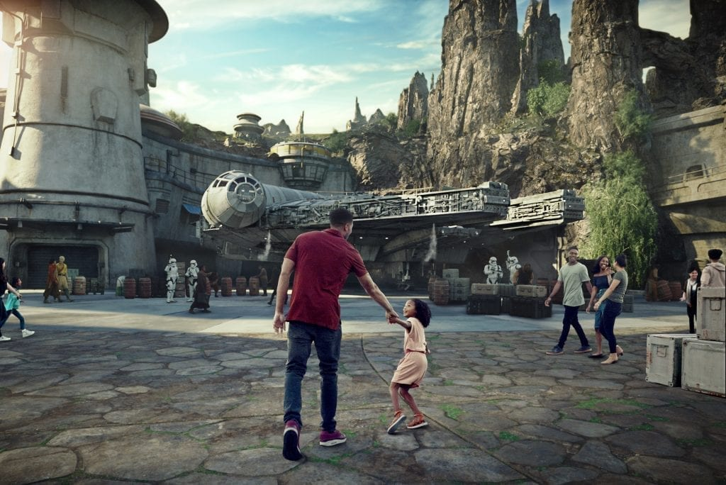 A rendering of Star Wars: Galaxy's Edge is shown in this promotional image. The new land will open May 31 at Disneyland Park in California and Aug. 29,  at Disney's Hollywood Studios in Florida.