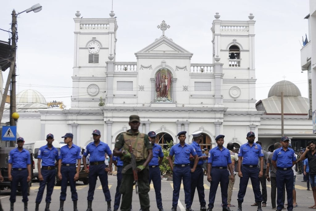 Tight security following Easter Sunday blast.