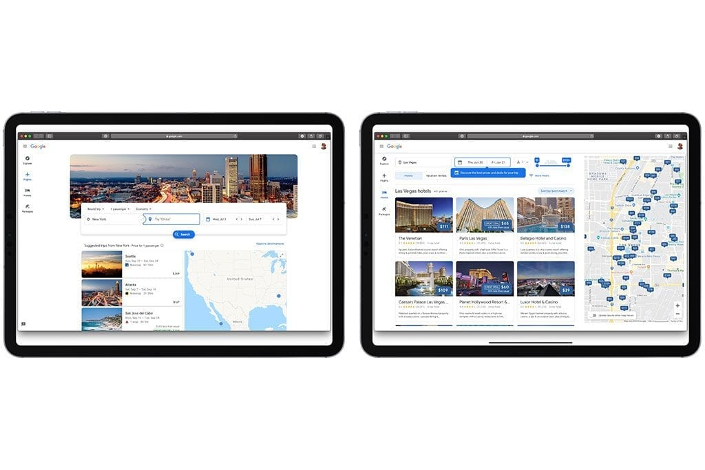 A photo from the homepage of the new Google Travel website.