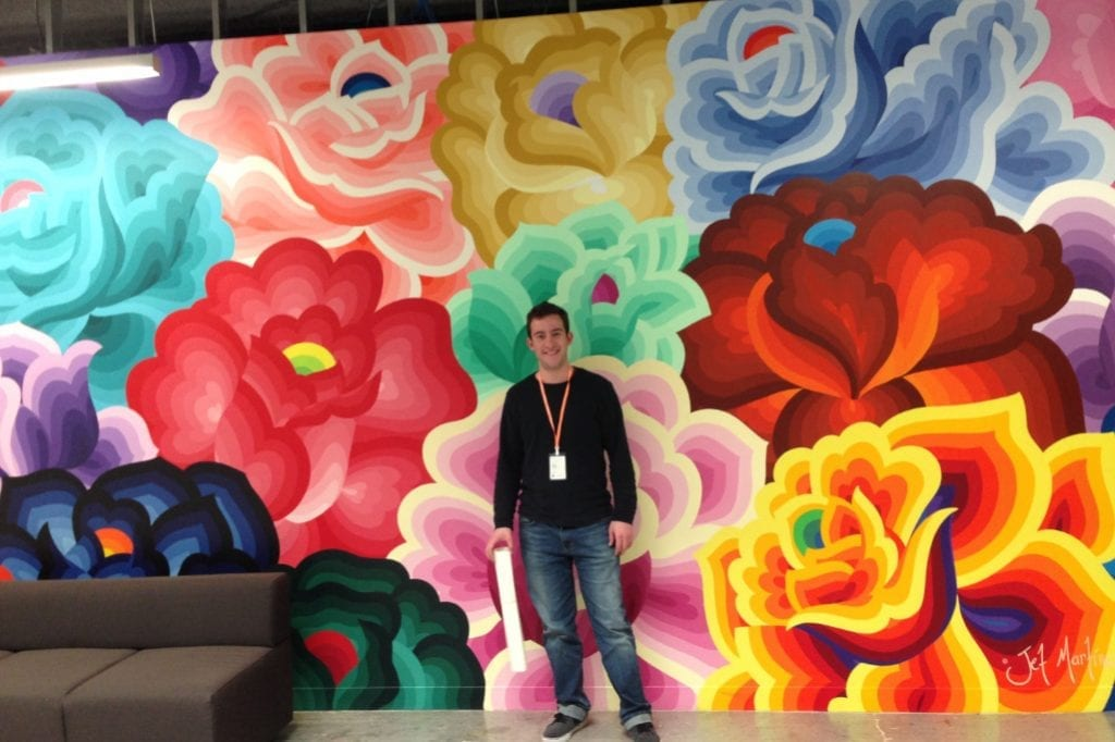 Shown here Utrip CEO Gilad Berenstein during a visit a few years ago to Facebook's offices in San Francisco.