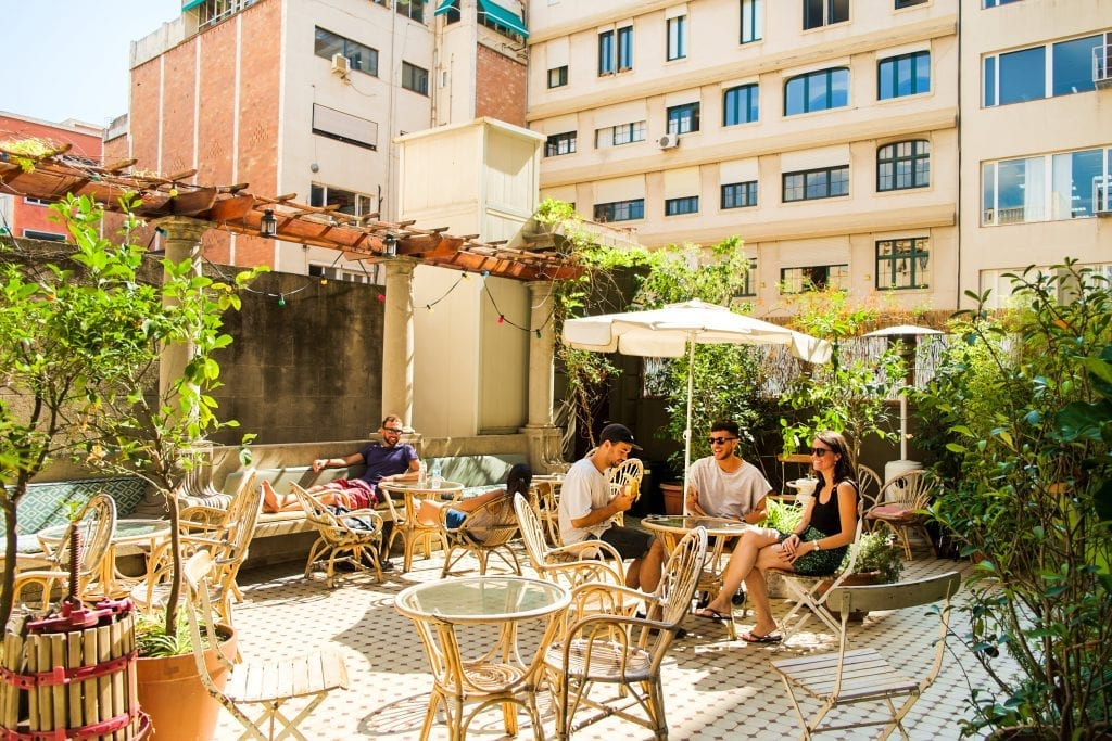The roof terrace at Casa Gracia in Barcelona. Hostelworld sees a future beyond accommodation.