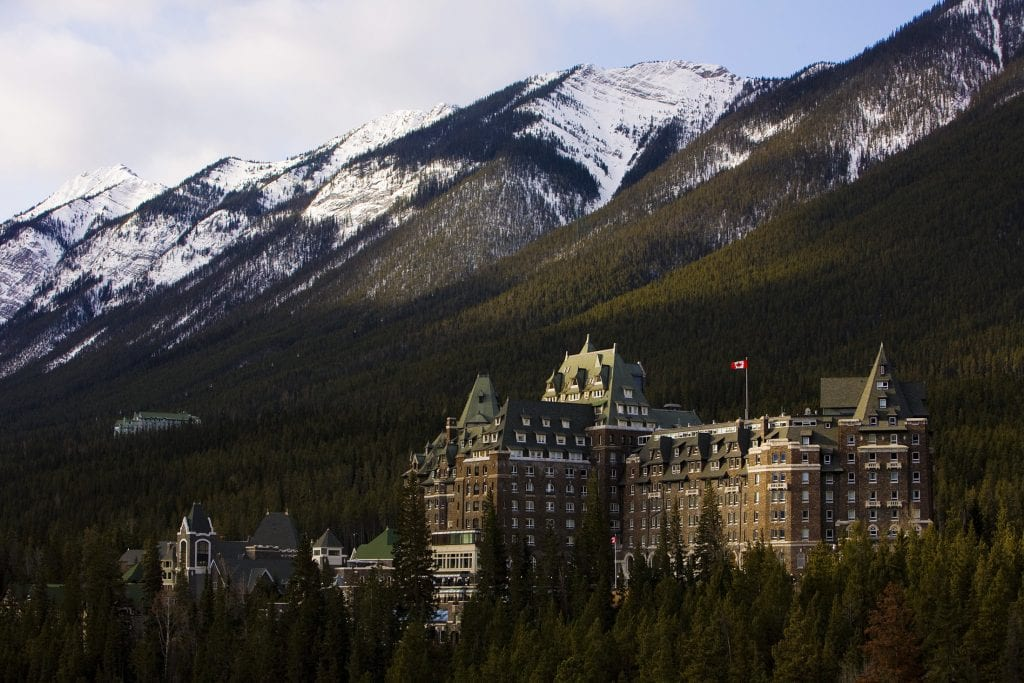 Fairmont Banff Springs Hotel is one of the hotels in the portfolio of Oxford Properties Group that may be sold in part or in whole to the Singaporean wealth fund GIC.