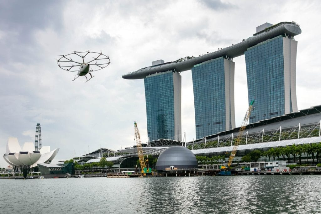 Flying Taxi Tests in Singapore Reveal Rival Visions of the Future