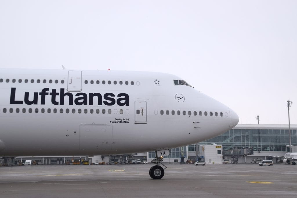 A Lufthansa Boeing 747. The company is facing a $6.4 million fine from the FAA,