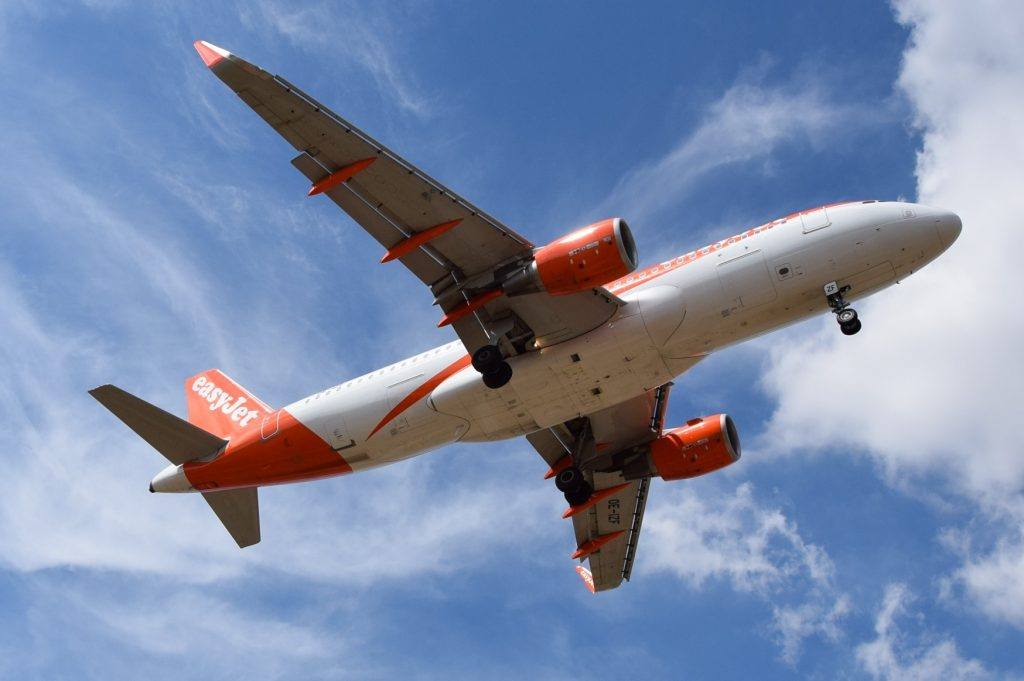An EasyJet A320. The airline reported an encouraging start to its financial year.