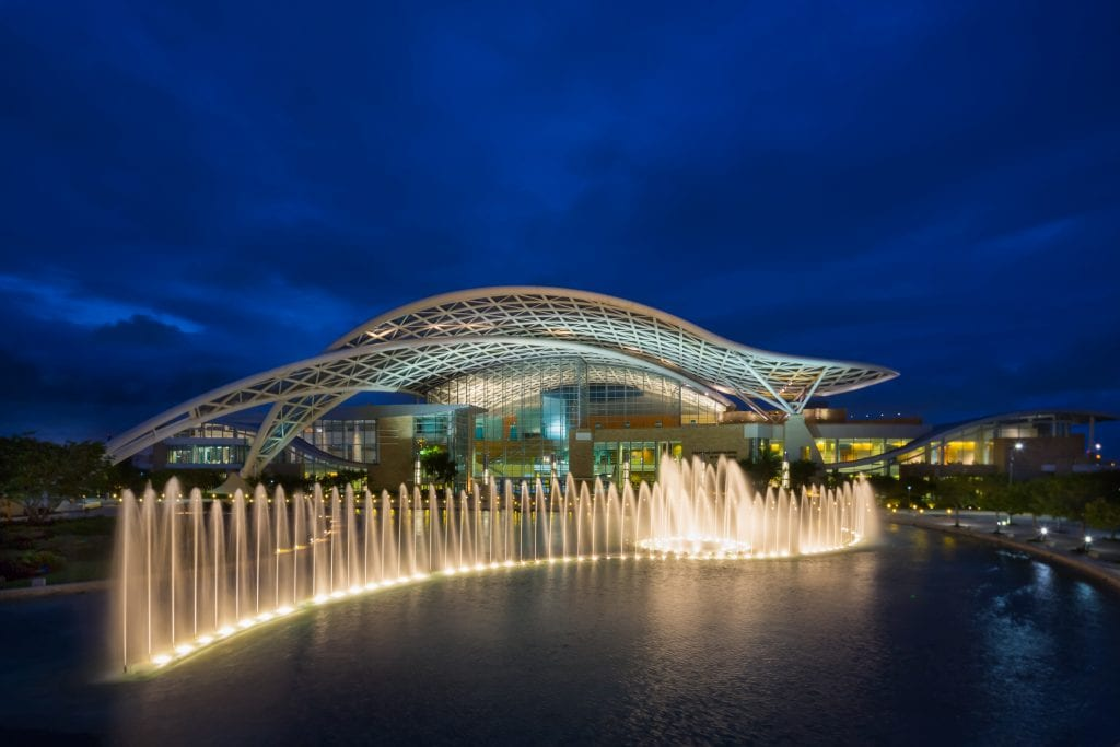 The Puerto Rico Convention Center is shown here. Meetings and events sector leads are on the rise with new event efforts under way.