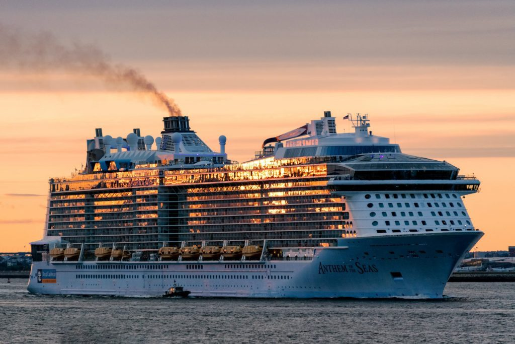 Anthem of the Seas. The ships owner Royal Caribbean Cruises had a record year in 2019 but has had to sharply pull back on advertising due to the coronavirus crisis.