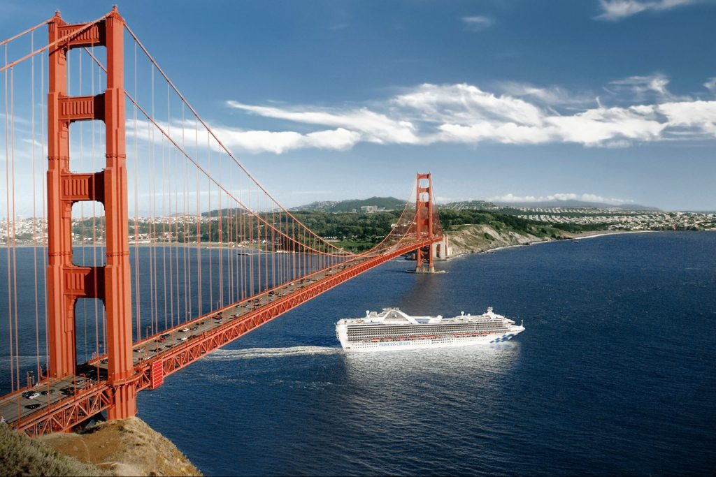 The Grand Princess, shown sailing into San Francisco Bay,  is the most recent ship to be quarantined.