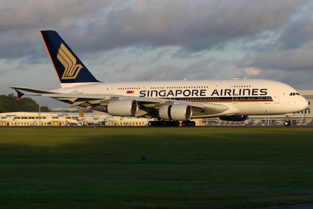Singapore Airlines was one of the carriers slated to offer the initial flights.