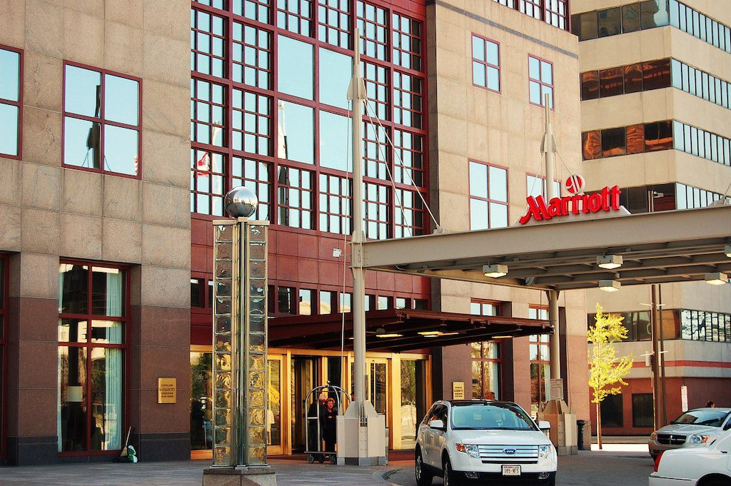 Revenue per room tanked 90 percent globally in April for Marriott, but the world's largest hotel company sees positive signs in China and North America.