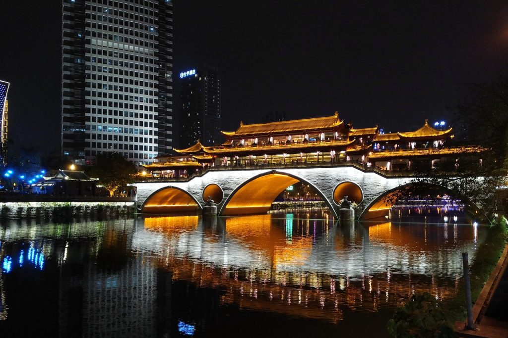 China's hotel recovery roared ahead during Golden Week, where cities like Chengdu (pictured) saw more than 50 percent year-over-year gains in room revenue.