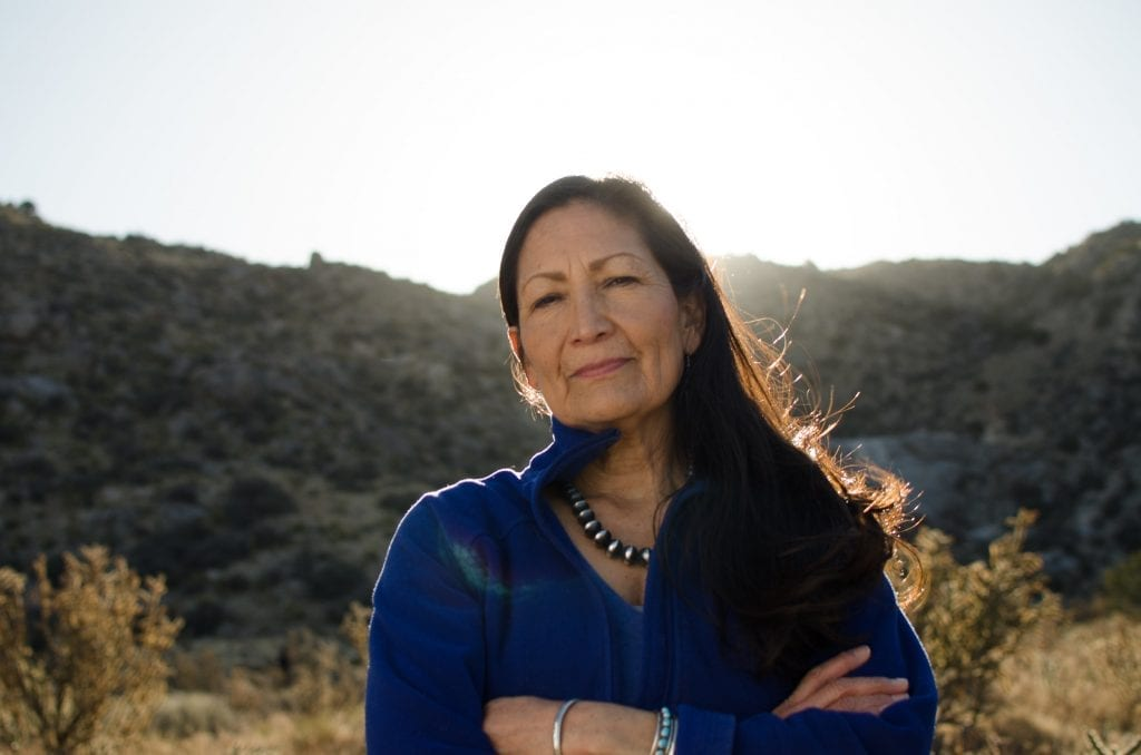 Congresswoman Deb Haaland is the first Native American nominated to lead the interior department.