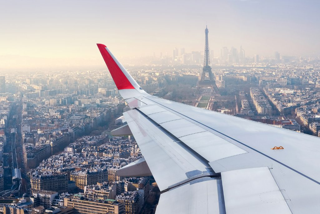 A view of the Eiffel Tower from an Air France plane. Air France-KLM Group said on Tuesday it would adopt continuous pricing with Accelya tech. It will calculate fares in real-time, like Uber.