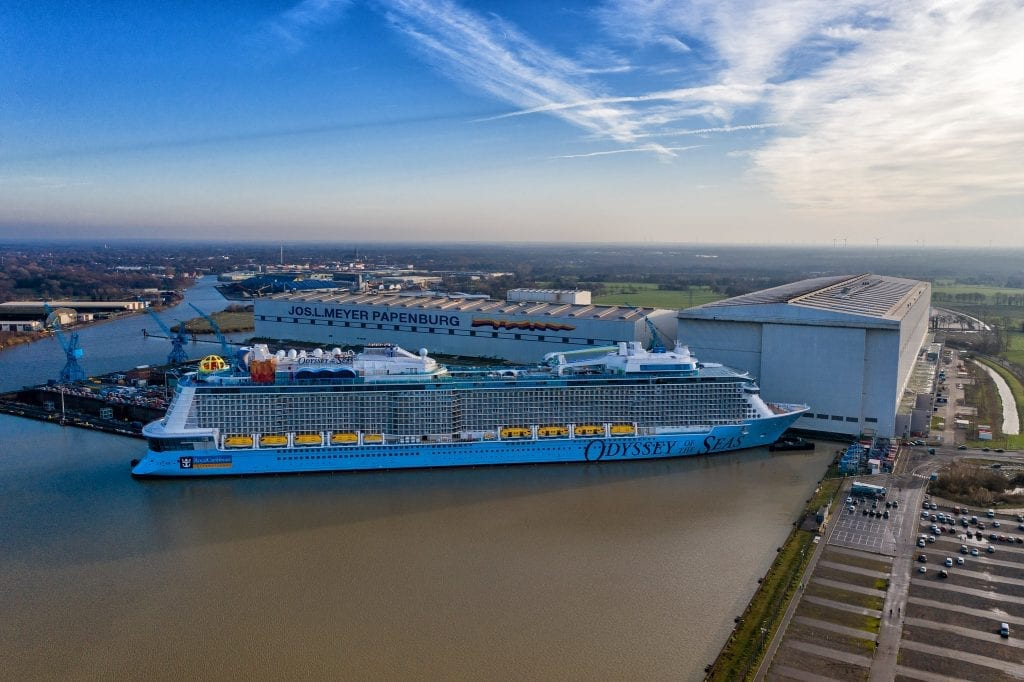Royal Caribbean's new Odyssey of the Seas is delayed by another month due to onboard Covid cases among crew.