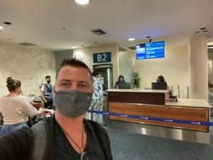 Tony Gunn at the airport