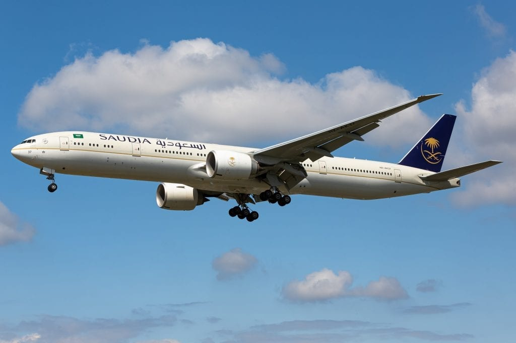 Saudi Arabia's national airline plans to expand and compete with Emirates and Qatar Airways.