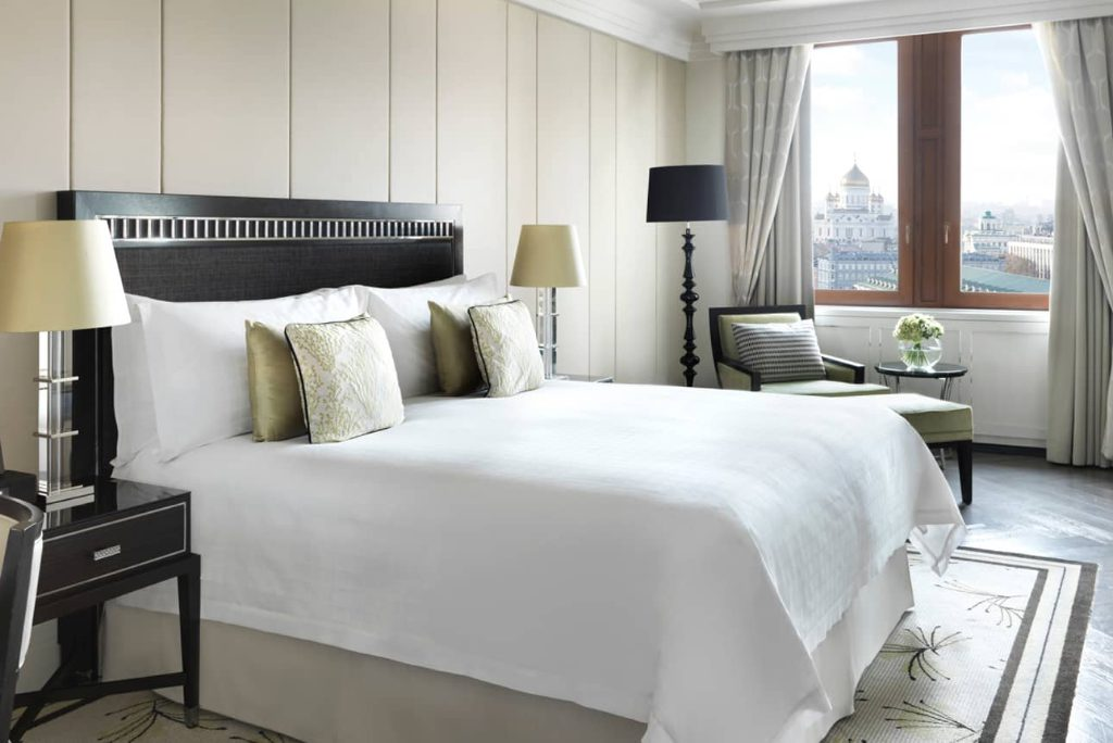 A deluxe suite at the Four Seasons Hotel in Moscow, next to the Kremlin. In Russia, entrepreneurs are optimistic about the Russian online travel market. Just ask OneTwoTrip, Aviasales, and Ostrovok.