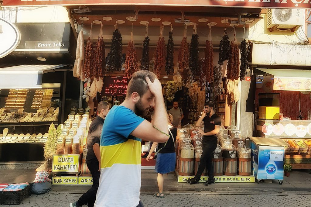 A local in Istanbul on August 15, 2019. Payments can be a source of frustration for travelers, locals, and suppliers, and Booking Holdings is trying to make the process easier.