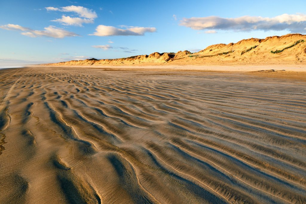 Ninety Mile Beach in New Zealand (pictured) underscores the isolation residents are feeling with the latest lockdown order on Aug. 17, 2021 from Prime Minister Jacinda Ardern.