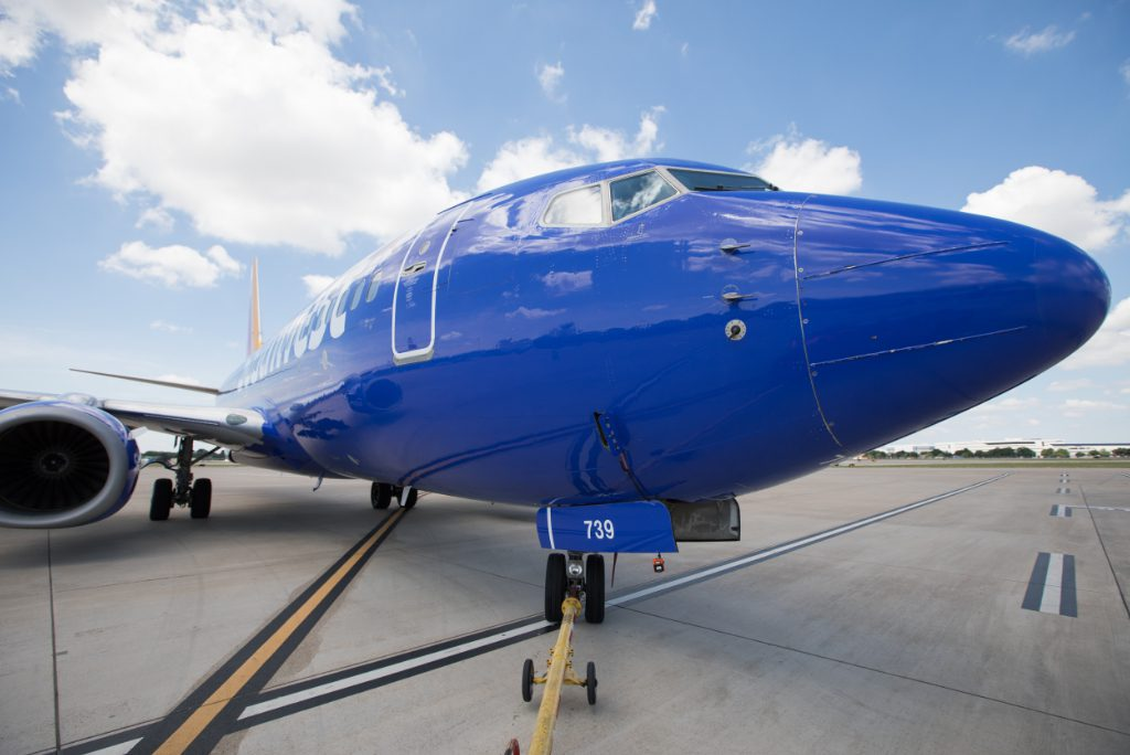 A 2020 photo of Southwest Airlines operations at Dallas Love Field in Texas. Southwest signed a deal with Sabre, a travel technology company, in the second quarter to expand their partnership on sourcing business travel bookings.