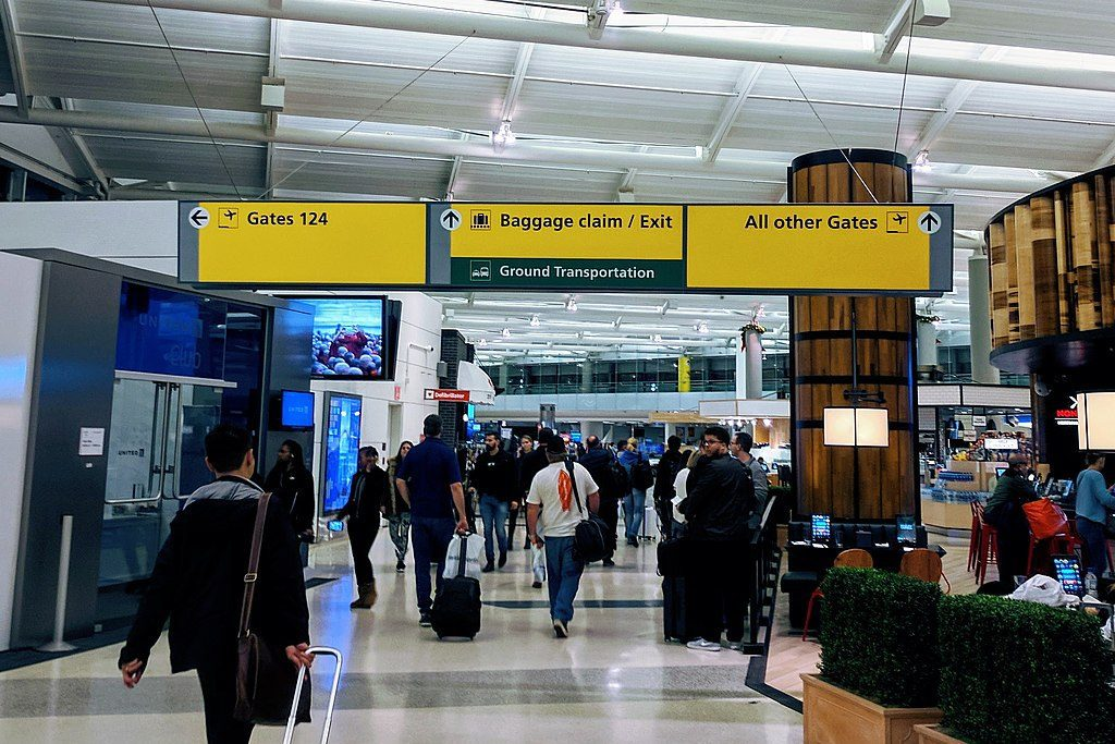 Large numbers of overseas visitors will be arriving at U.S. airports starting in November.