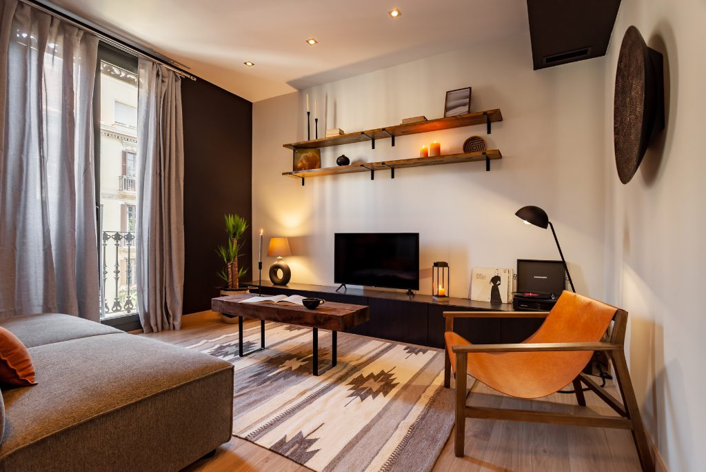 An apartment for rent by corporate travelers in Barcelona from the startup Ukio. Source: Ukio.